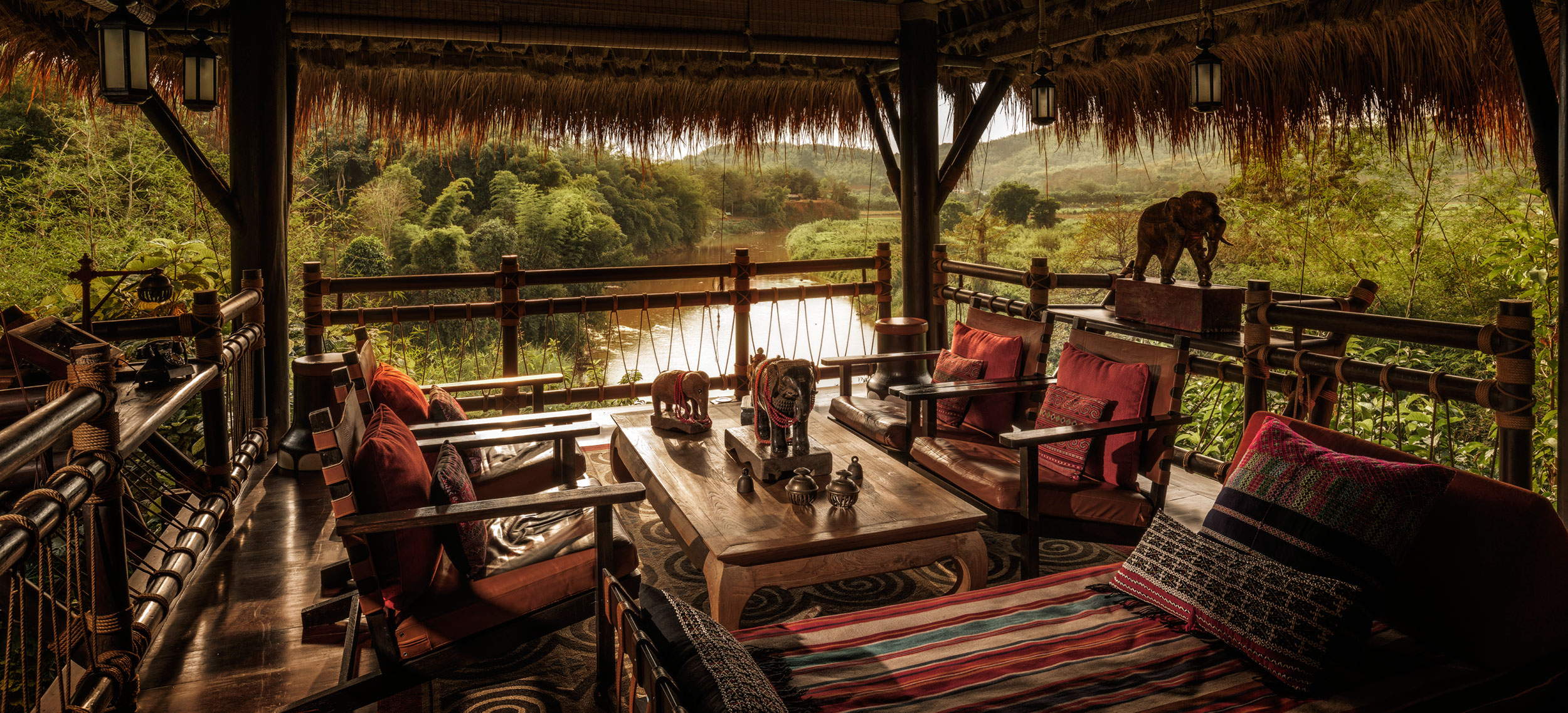 Hotell Four Seasons Tented Camp Golden Triangle Thailand
